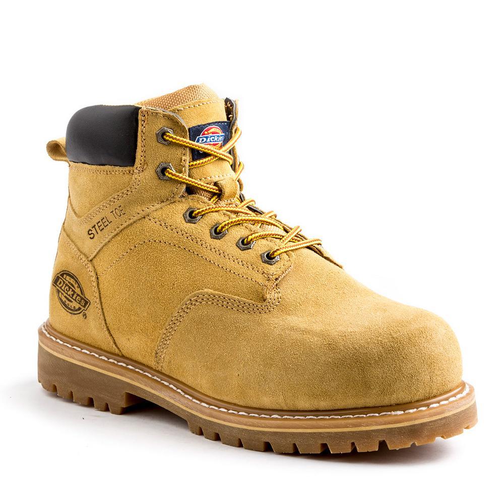 e2d211edacc Dickies Prowler Men Size 10.5 Wheat Leather Steel Toe Work Boot