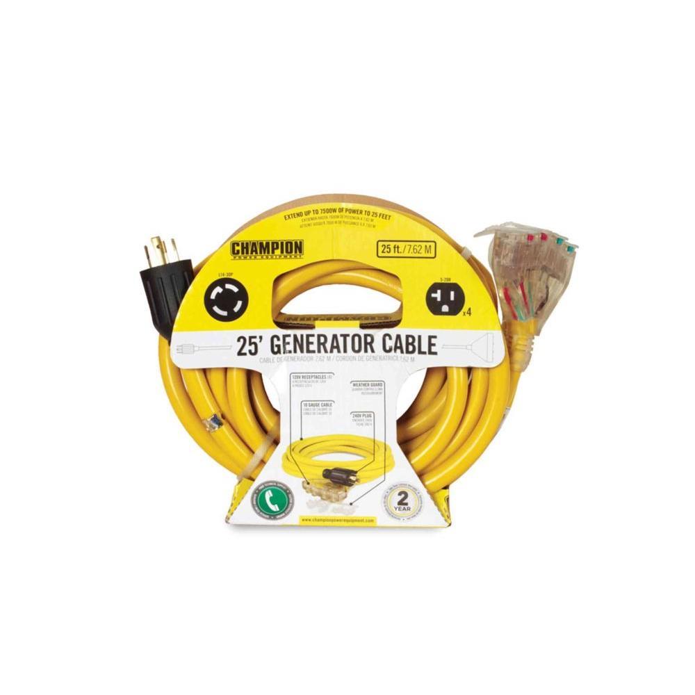25 ft. 240-Volt Generator Power Cord