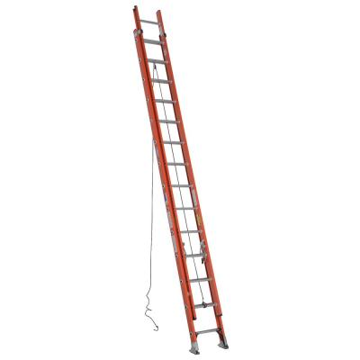 28 ft. Fiberglass Extension Ladder with 300 lbs. Load Capacity Type IA Duty Rating
