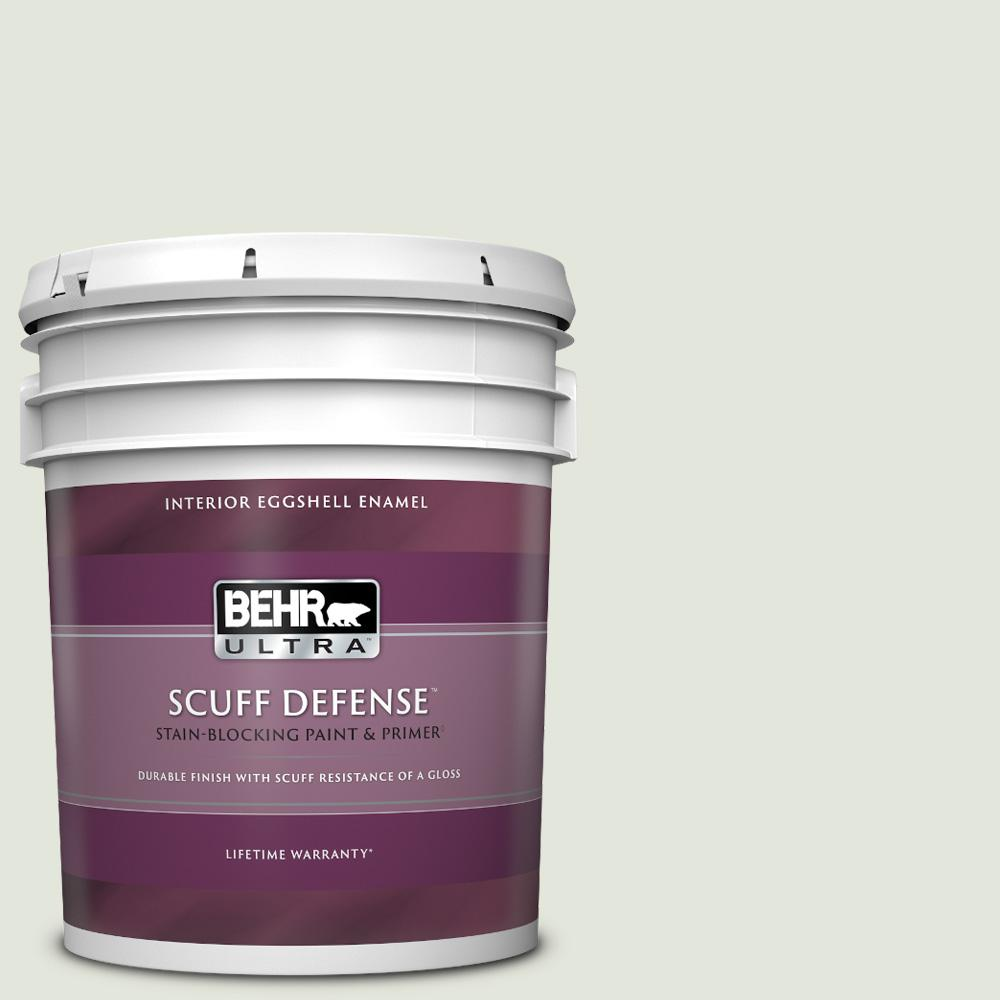 Reviews For Behr Ultra 5 Gal Bl W06 Whispering Waterfall Extra Durable Eggshell Enamel Interior Paint Primer 275005 The Home Depot