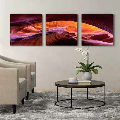 "20 in. x 60 in. ""Arizona Canyon Antelope"" Printed Canvas Wall Art"