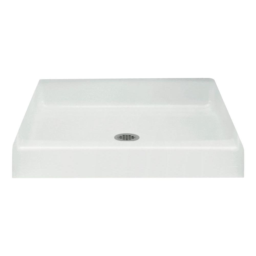 STERLING Advantage 36 in. x 34 in. Single Threshold Shower Base in White