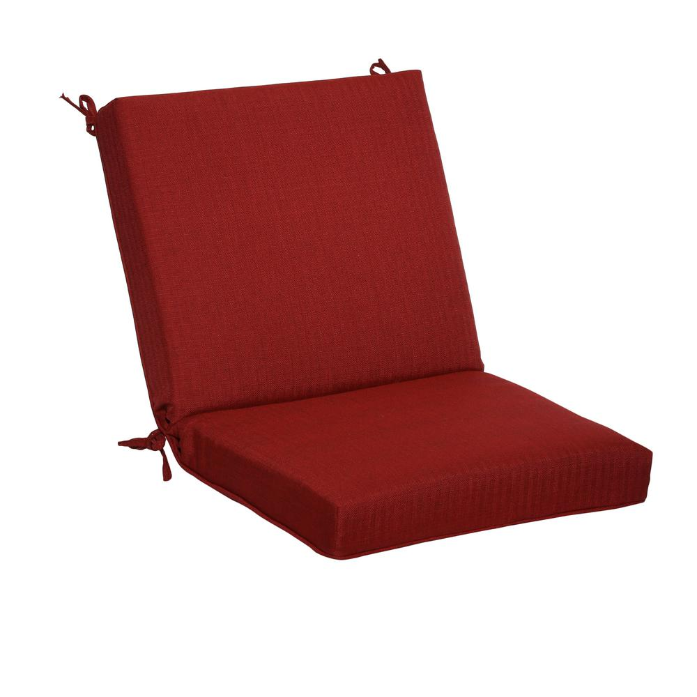 hamptonbay Hampton Bay CushionGuard Chili Deep Seating Outdoor Mid-Back Dining Chair Cushion