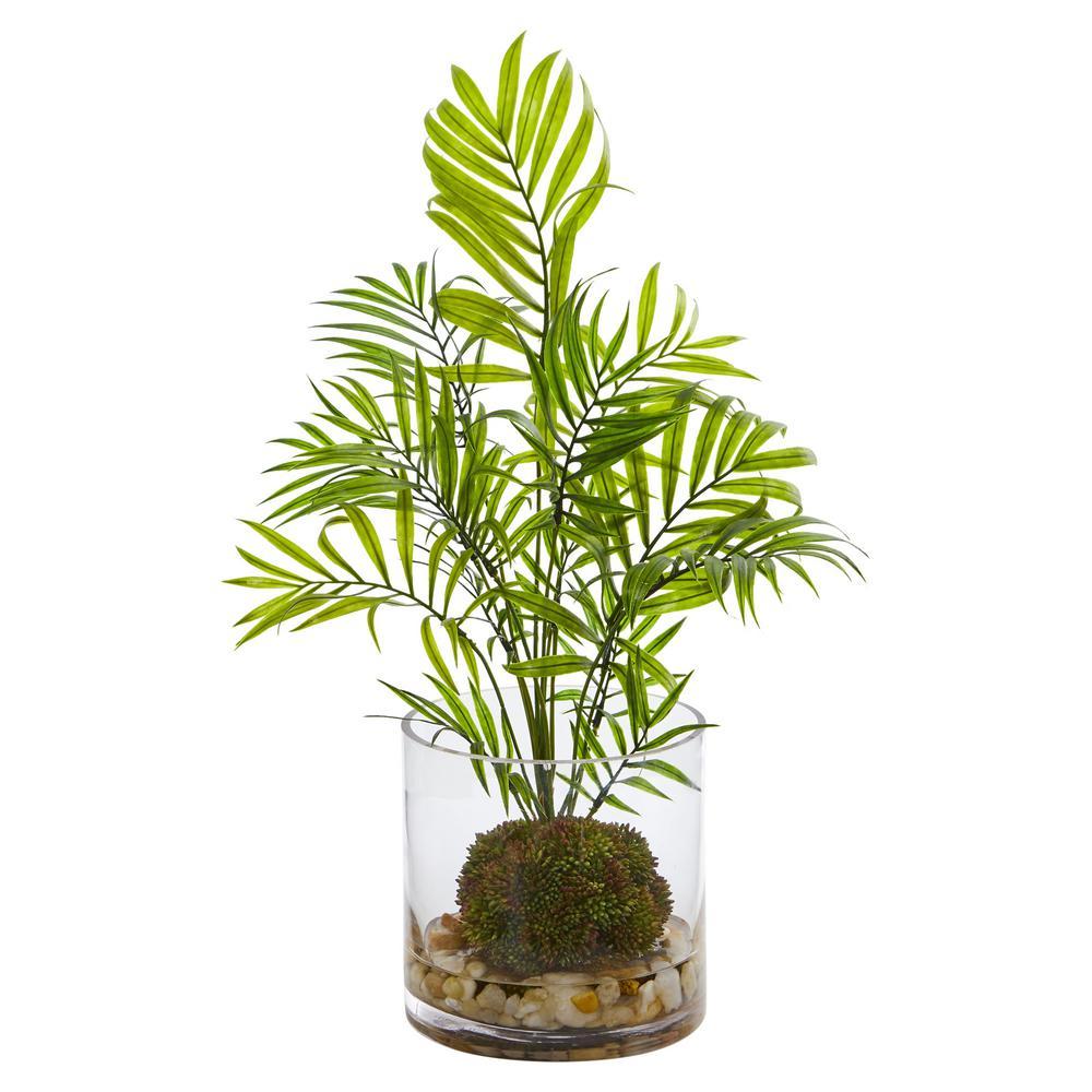 Indoor Mini Areca Palm Artificial Plant in Vase