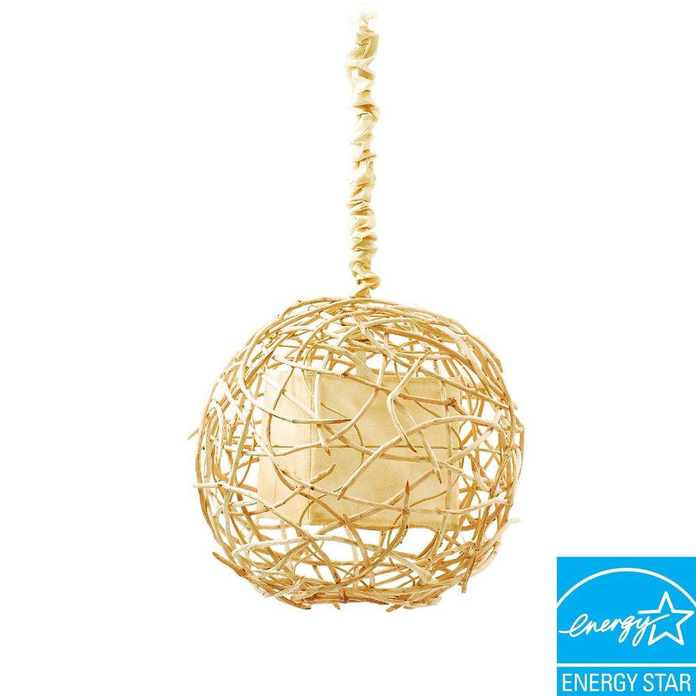 Padma's Plantation Nile Vine Collection 1-Light Natural Colored Sphere Hanging Lamp-DISCONTINUED