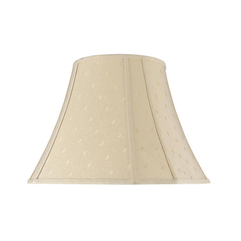 Aspen Creative Corporation 18 in. x 15 in. Butter Creme Bell Curve Corner Lamp Shade