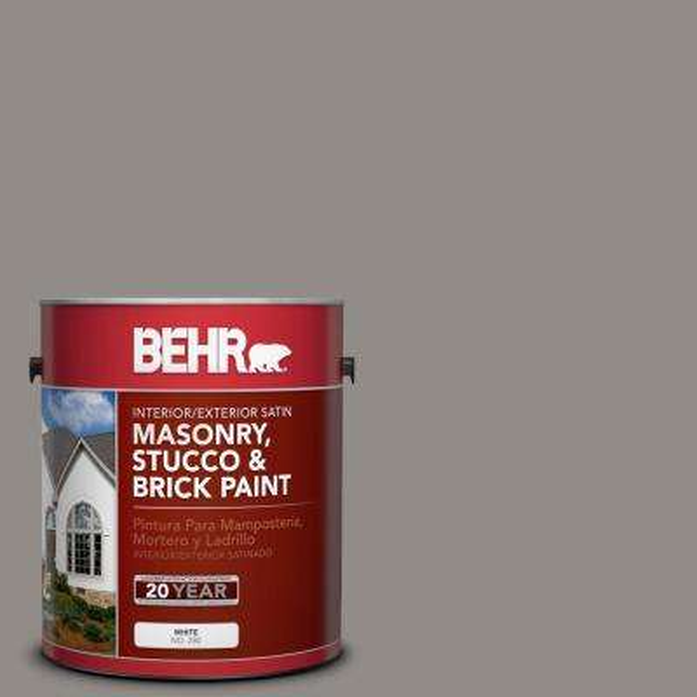 1 gal. #790F-4 Creek Bend Satin Interior/Exterior Masonry, Stucco and Brick Paint