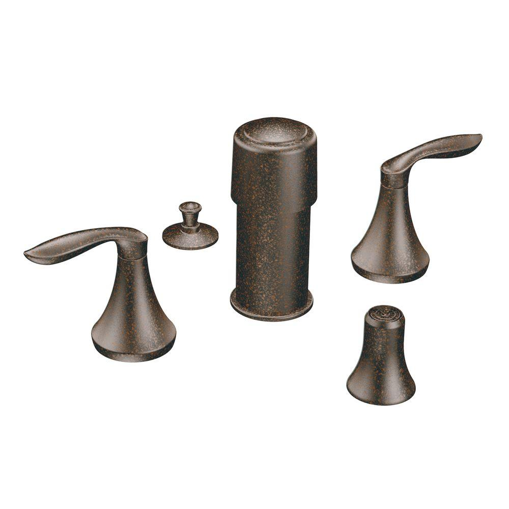 MOEN Eva 2-Handle Bidet Faucet Trim Kit in Oil Rubbed Bronze (Valve ...