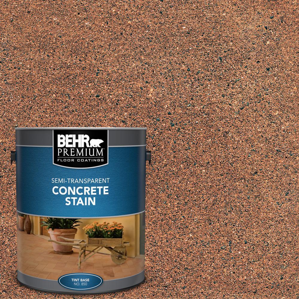 BEHR Premium 1 gal. #STC-31 Natural Henna Semi-Transparent Flat Interior/Exterior Concrete Stain