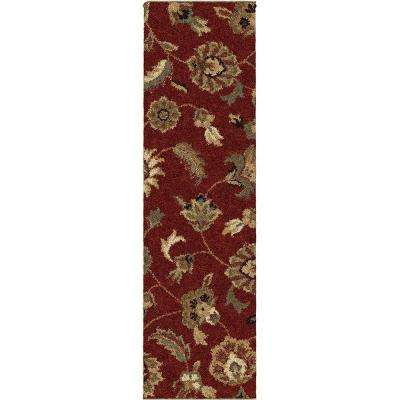 Bloom Red 2 ft. x 8 ft. Indoor Runner Rug