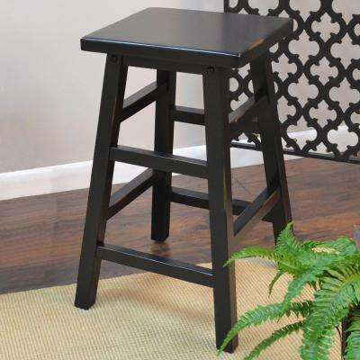 O'Malley 23.75 in. Antique Black Bar Stool