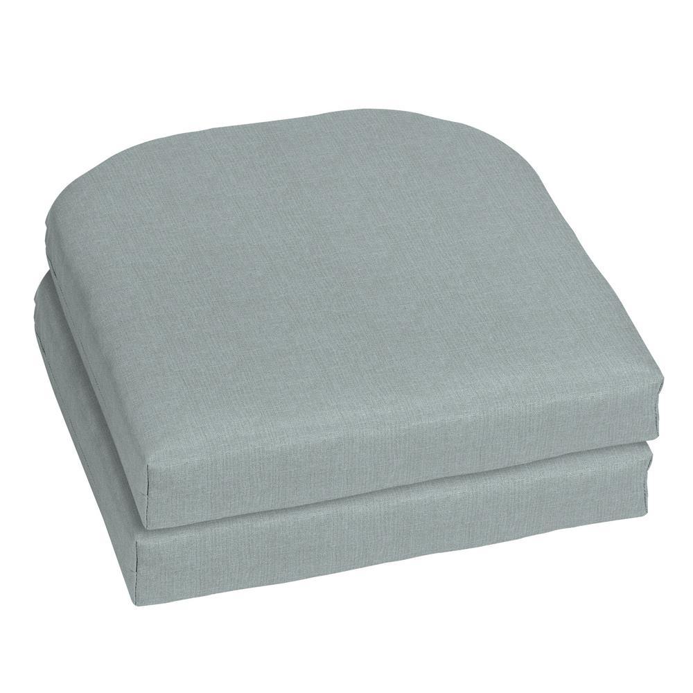 18 x 18 Sunbrella Cast Mist Outdoor Chair Cushion (2-Pack)