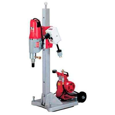 Diamond Coring Rig with Large Base Stand, Vac-U-Rig Kit, Meter Box and Diamond Coring Motor