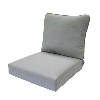 Pewter Deep Seating Outdoor Lounge Chair Cushion