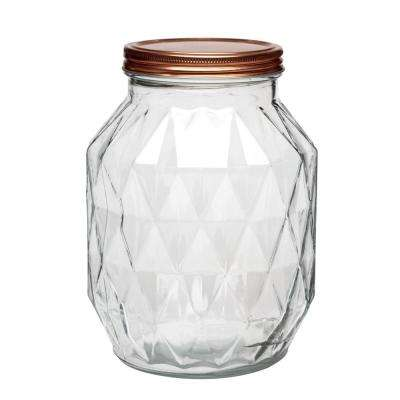 Dakota 108 oz. Glass Canister with Copper Lid