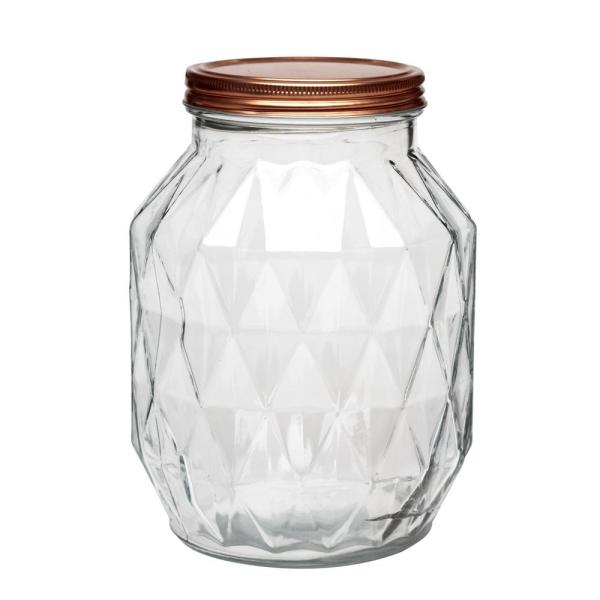 Amici Home Dakota 108 oz. Glass Canister with Copper Lid 7CN603R