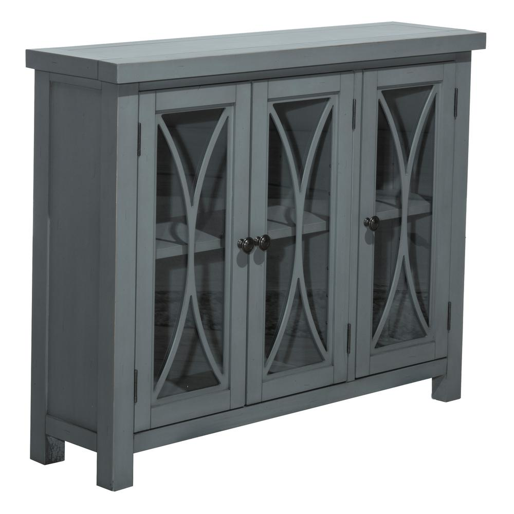 Wonderful Hillsdale Furniture Bayside Robin Egg Blue 3 Door Cabinet