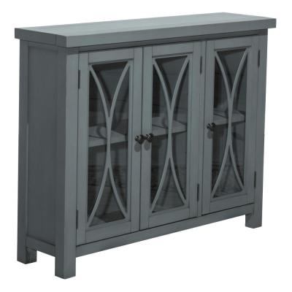 Bayside Robin Egg Blue 3-Door Cabinet