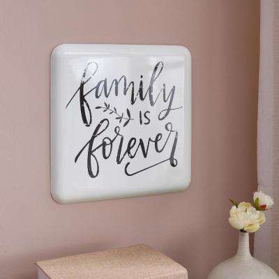 Farmhouse Home Decor Metal Wall Art: Family is Forever