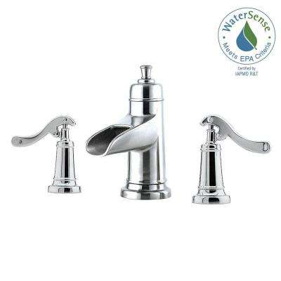 Ashfield 8 in. Widespread 2-Handle Bathroom Faucet in Polished Chrome