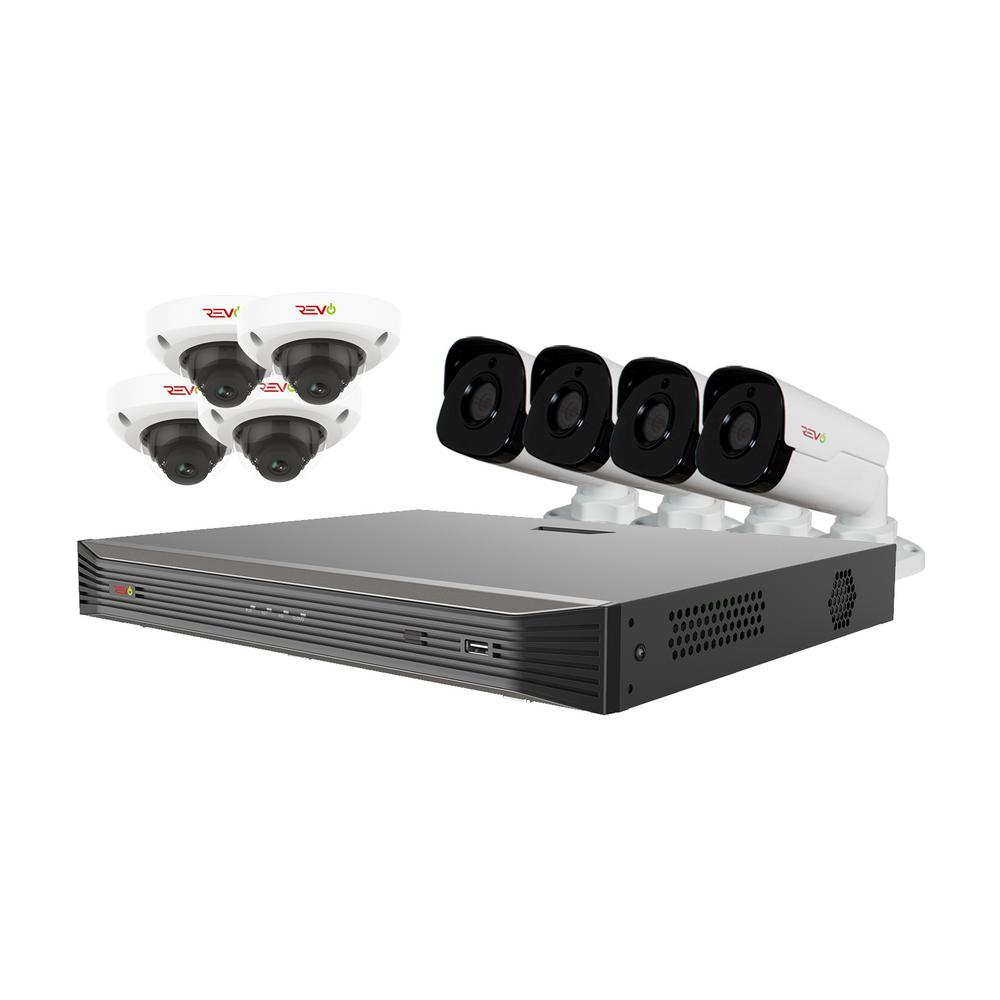 Ultra HD Audio Capable 16-Channel 3TB NVR Surveillance System with Eight