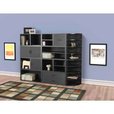 30 in. Black Large Divided Cube