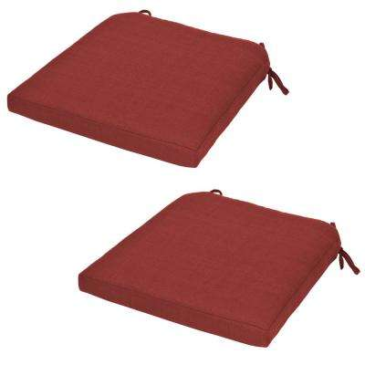 Charlottetown Chili Replacement Outdoor Dining Chair Cushion (2-Pack)