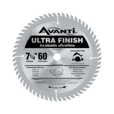 7-1/4 in. x 60-Tooth Fine Finish Saw Blade