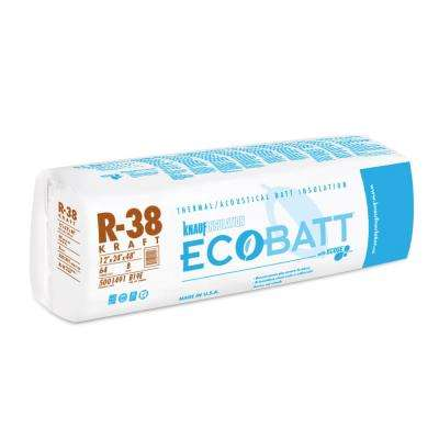 R-38 EcoBatt Kraft Faced Fiberglass Insulation Batt 24 in. x 48 in. (8-Bags)
