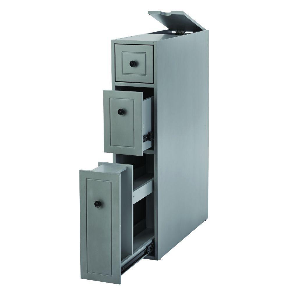 Hamilton Distressed Grey Cabinet