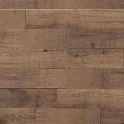 Sculpted Ecru 11-1/2 mm Thick x 11-1/2 in. Wide x 46.56 in. Length Click Lock Laminate Flooring (14.87 sq. ft. / case)