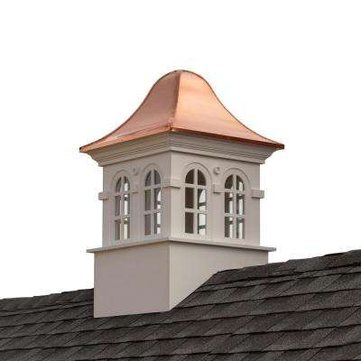 Smithsonian Rockville 30 in. x 50 in. Vinyl Cupola with Copper Roof