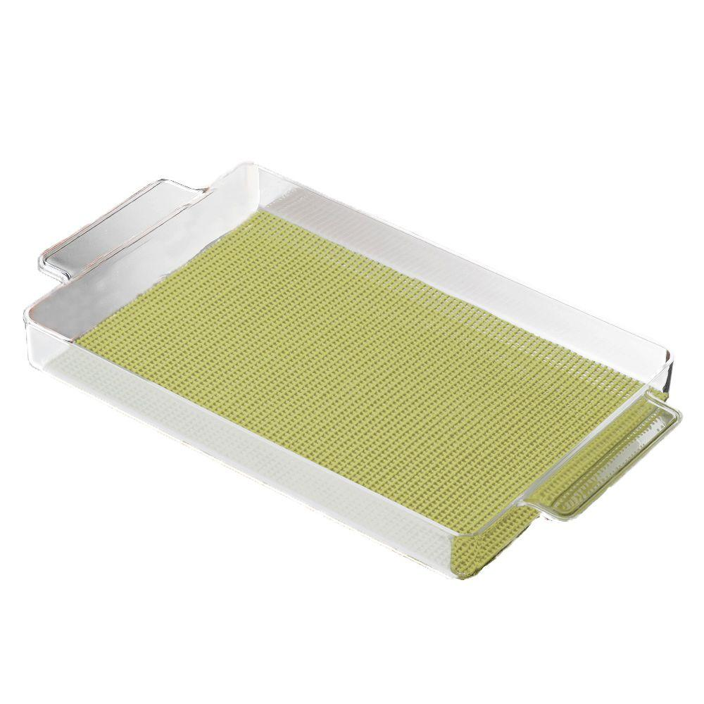 Fishnet Rectangular Serving Tray in Mist Green