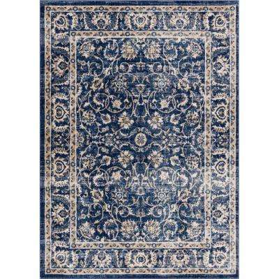Amba Sonoma Blue 8 ft. x 10 ft. Traditional Distressed Area Rug