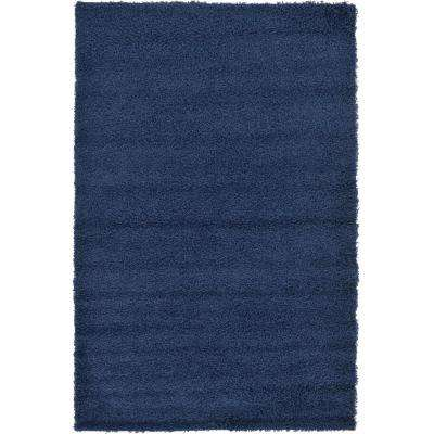 Solid Shag Sapphire Blue 5 ft. x 8 ft. Area Rug