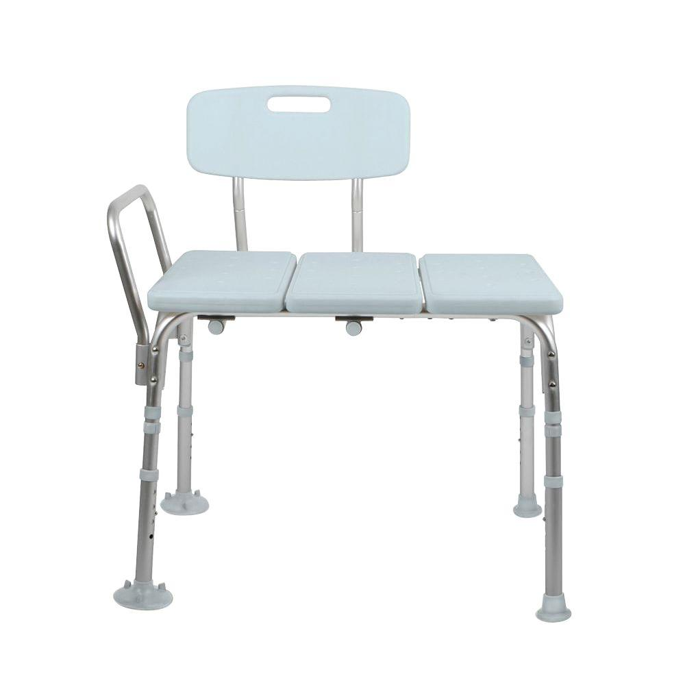 Medline Bath Safety Transfer Bench with Back-MDS86960KDH - The Home ...