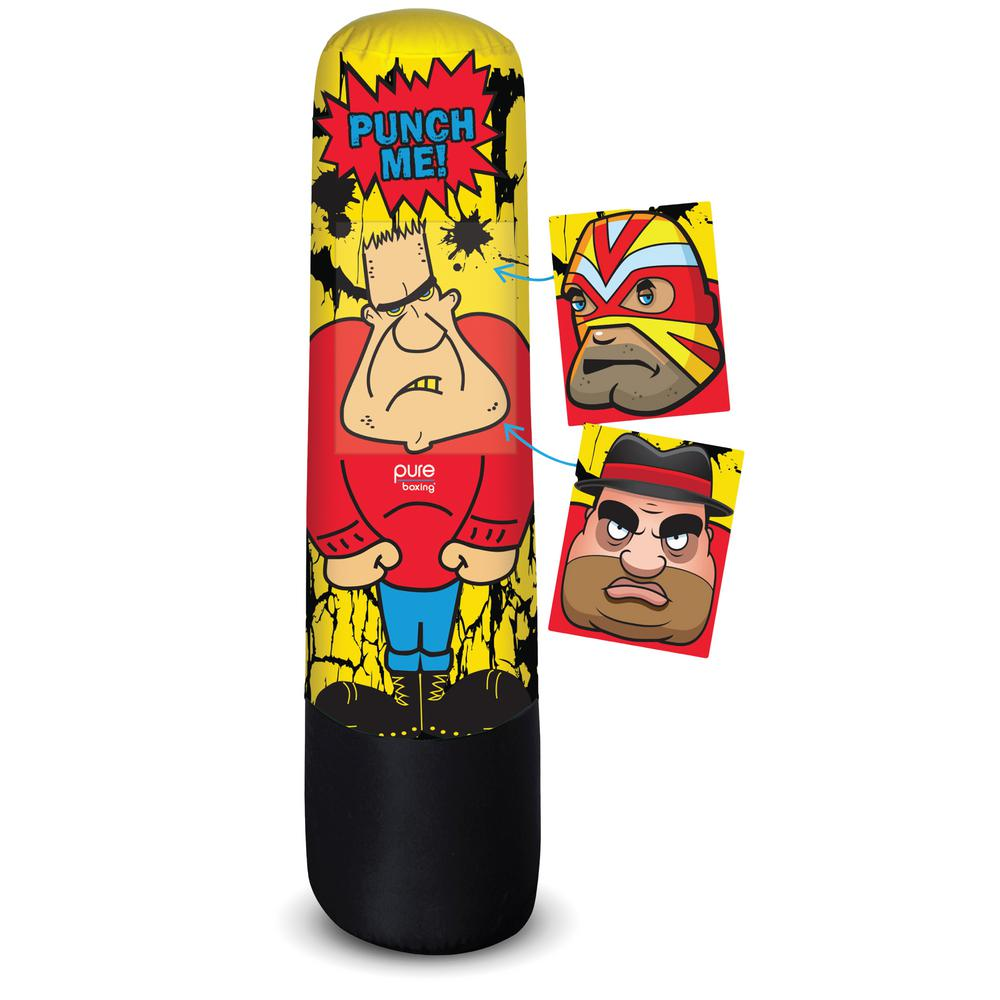 Pure Boxing Bully Bag Kids Inflatable Punching 8915bb The Home Depot