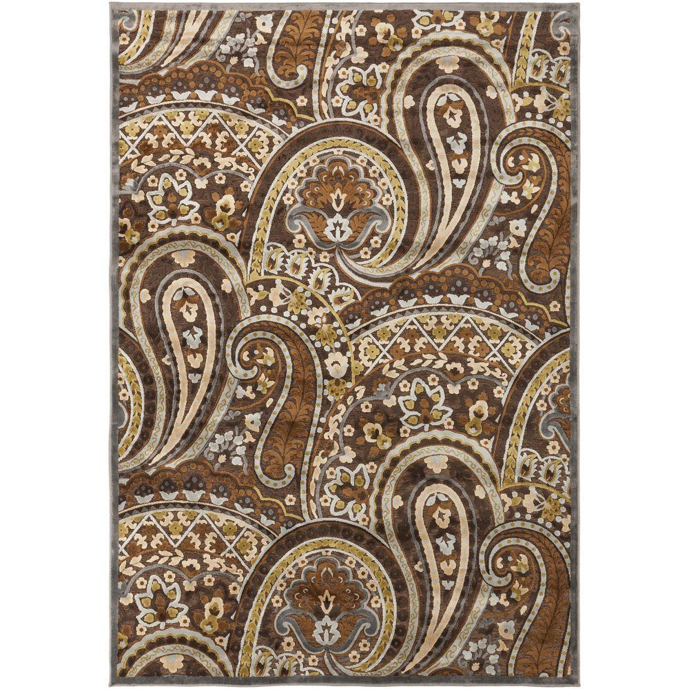 Antigno Chocolate 7 ft. 6 in. x 10 ft. 6 in.