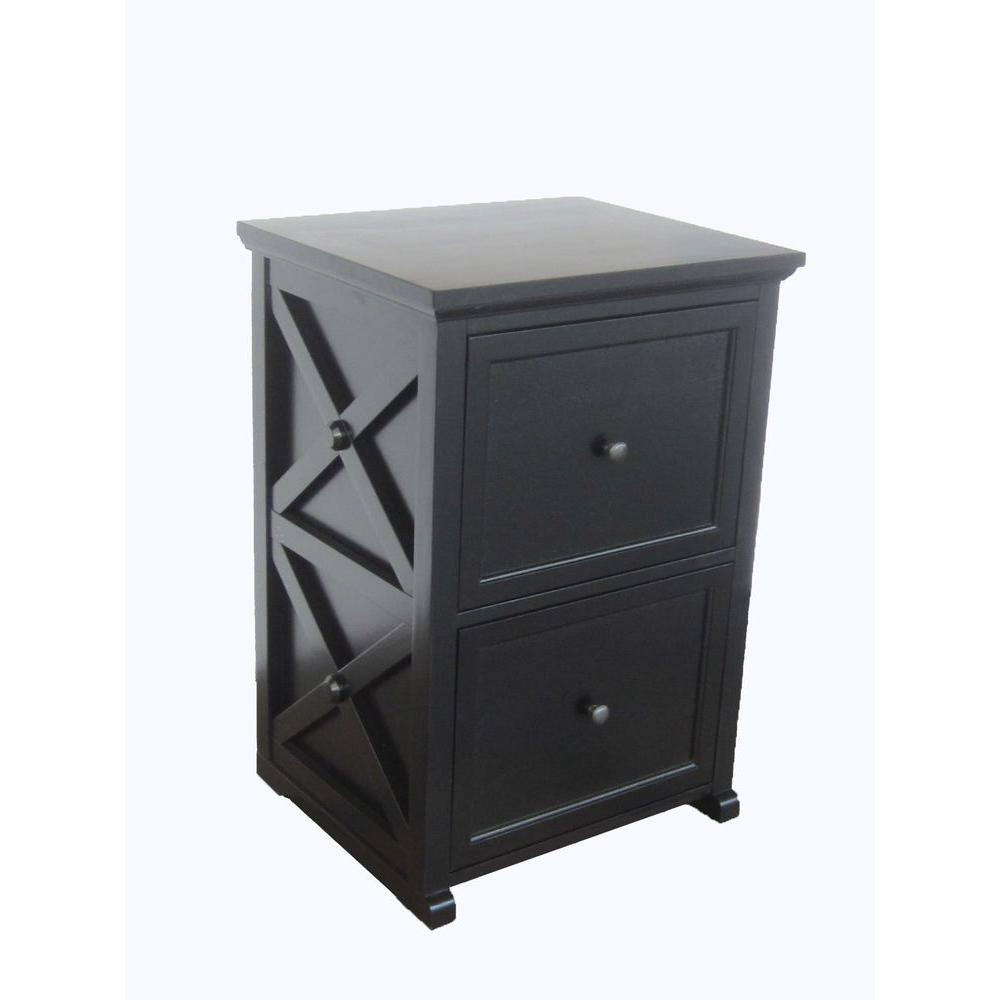 Home Decorators Collection Brexley Black 2-Drawer File Cabinet-DISCONTINUED