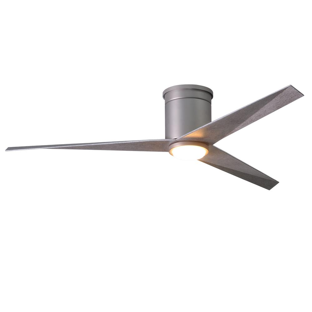 Atlas Eliza 56 in. LED Indoor/Outdoor Damp Brushed Nickel Ceiling Fan with Light with Remote Control, Wall Control
