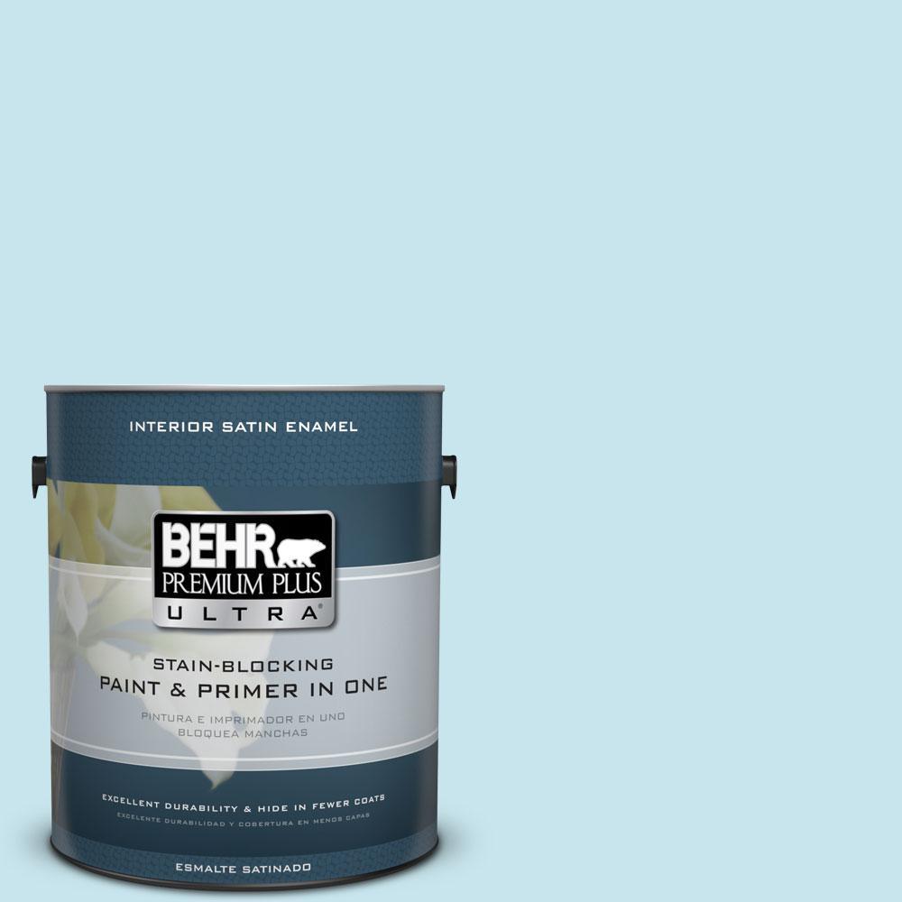 1-gal. #M480-2 Igloo Blue Satin Enamel Interior Paint