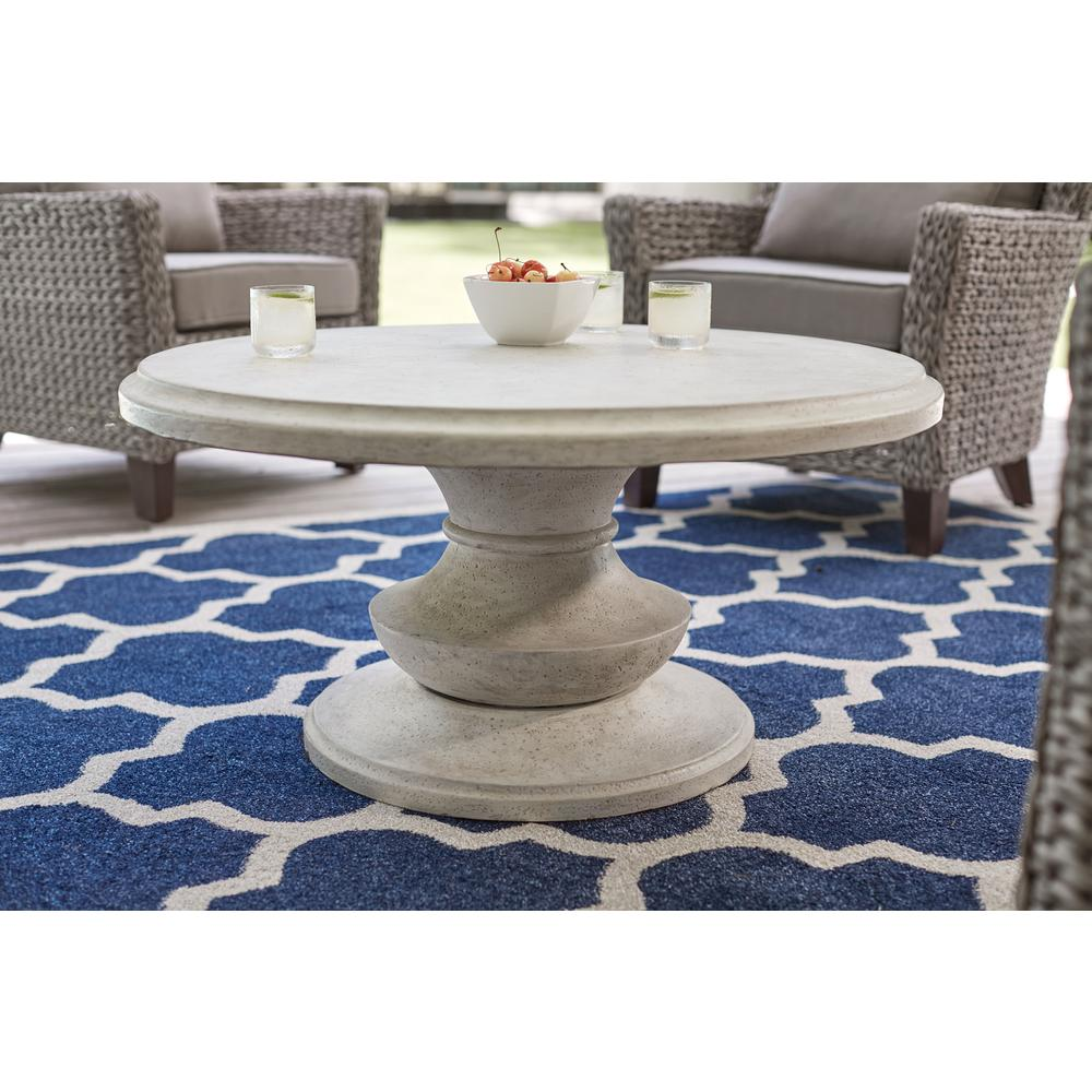 Megan Round TerraFab Outdoor Patio Coffee Table