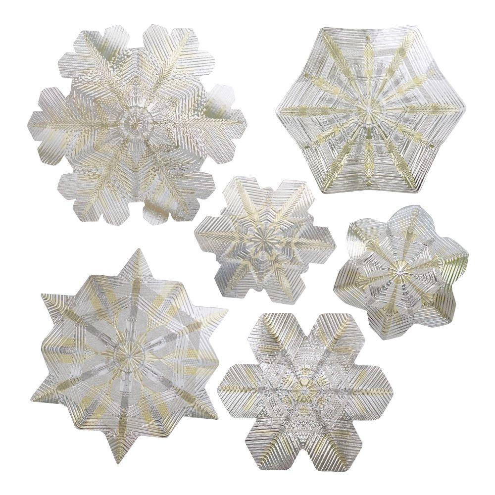 Artscape 12 in. x 12 in. Snowflake Holiday Accents Citrine Decorative Window Film