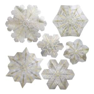 Click here to buy Artscape 12 inch x 12 inch Snowflake Holiday Accents Citrine Decorative Window Film by Artscape.