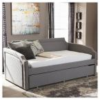 Baxton Studio Parkson Contemporary Gray Fabric Upholstered Twin Size Daybed
