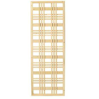 1.5 in. x 24 in. x 6 ft. Framed Catalina Wood Lattice Screen