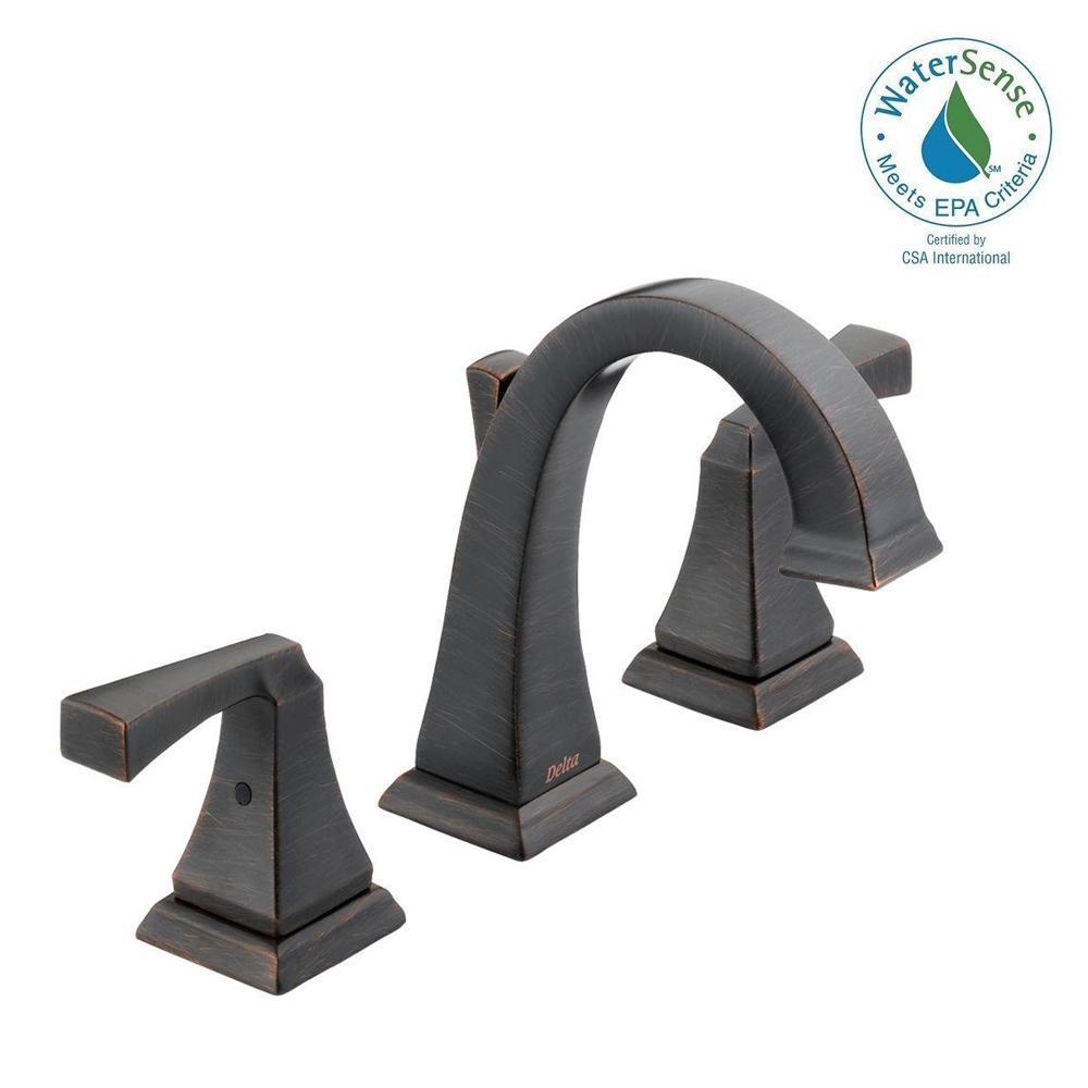 Dryden 8 in. Widespread 2-Handle Bathroom Faucet with Metal Drain Assembly in Venetian Bronze