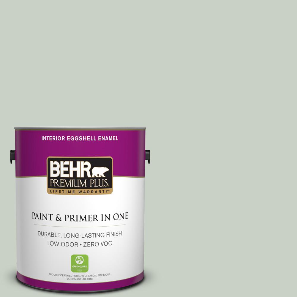 1 gal. #PPU11-12 Mild Mint Zero VOC Eggshell Enamel Interior Paint