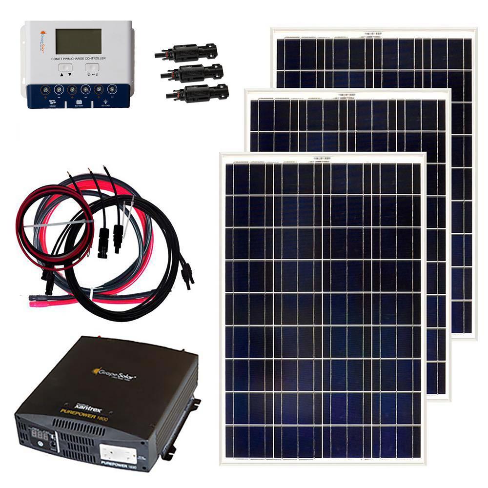 Grape Solar 300 Watt Off Grid Solar Panel Kit Gs 300 Kit