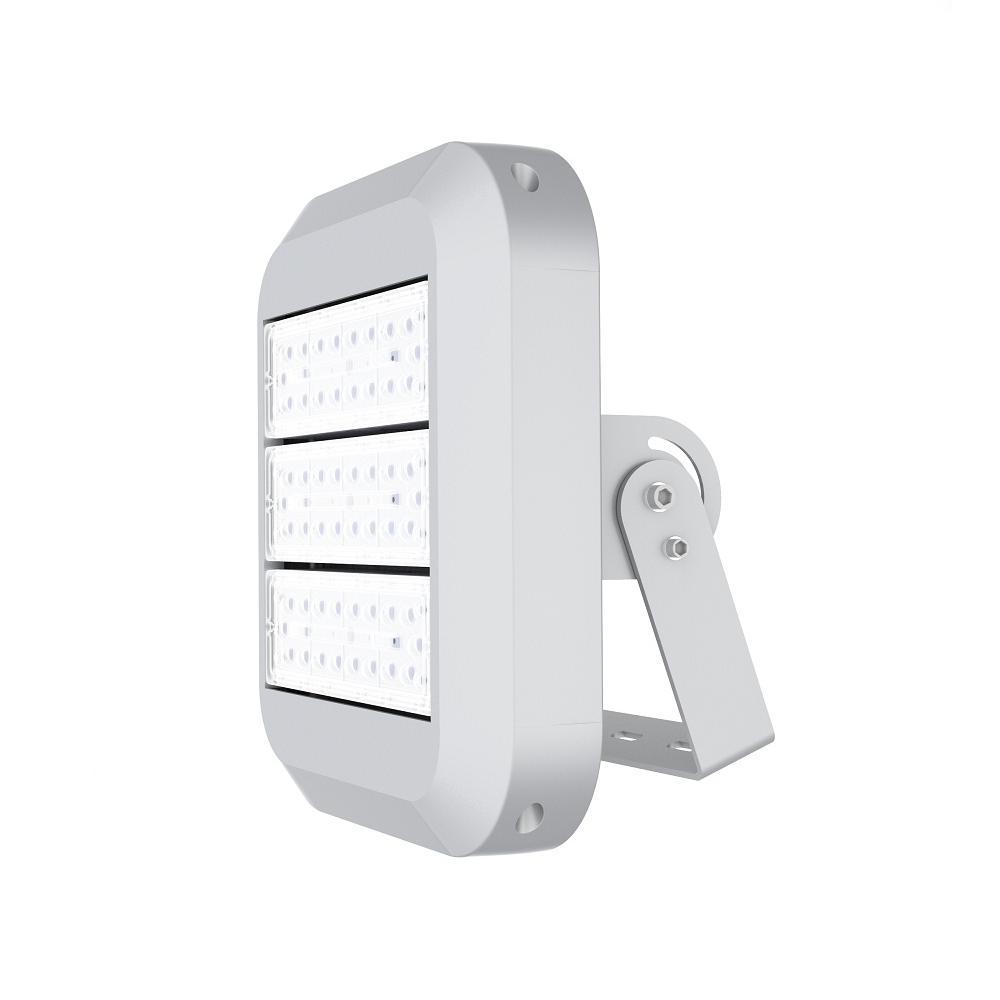 150-Watt Waterproof (IP67) Silver Integrated LED Outdoor Landscape Flood Light with 5700K